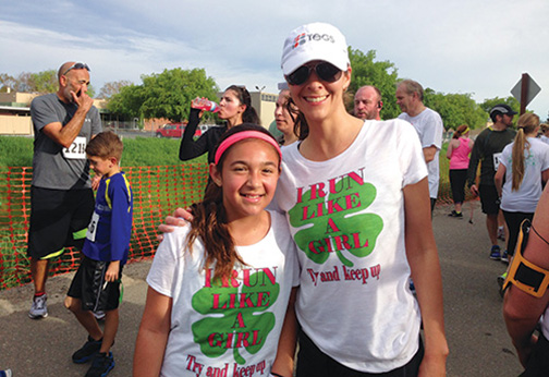 Shamrock 5K Fun Run & Walk with daughter Lauren